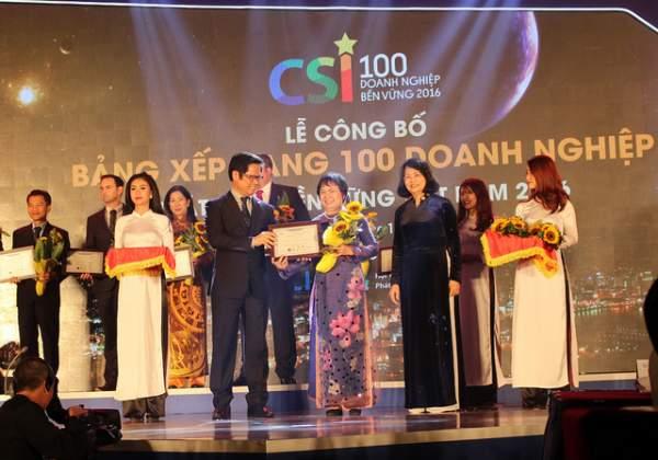 PNJ đạt Top 10 trong 100 doanh nghiệp phát triển bền vững nhất Việt Nam 2016 1