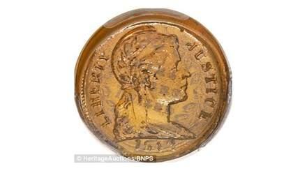 Đồng tiền xu độc nhất bán với giá gần 1,6 tỷ đồng ở Mỹ 1