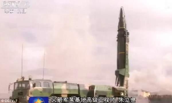 """Triều Tiên căng thẳng, TQ """"khoe"""" tên lửa cỡ khủng 4"""