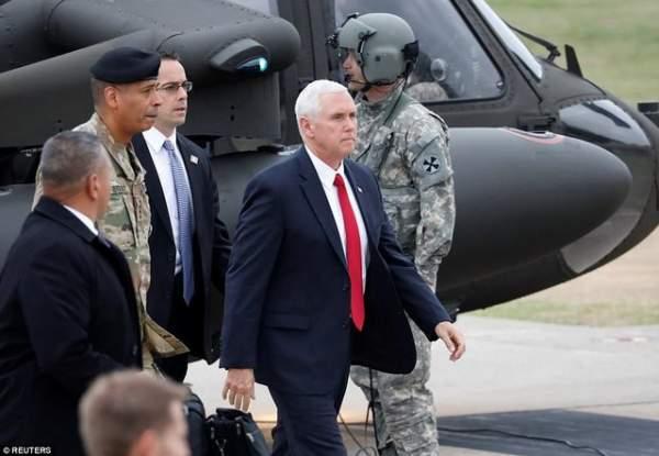 Phó TT Mỹ bất ngờ tới gần khu phi quân sự Triều Tiên 1