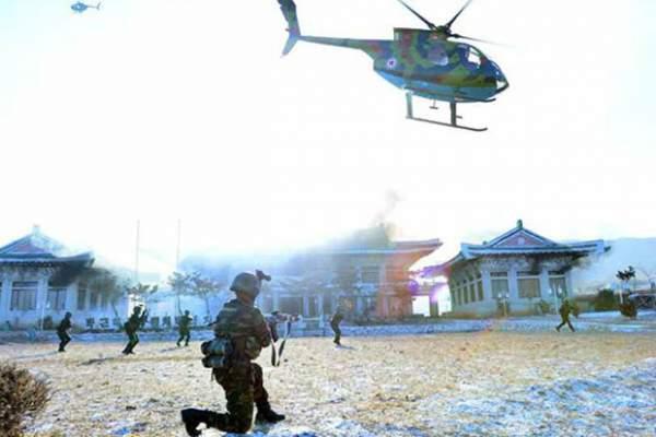 Triều Tiên phá hủy hoàn toàn mô hình dinh Tổng thống HQ 4