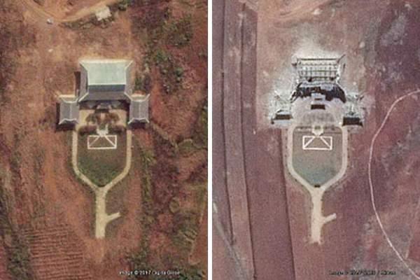Triều Tiên phá hủy hoàn toàn mô hình dinh Tổng thống HQ 2