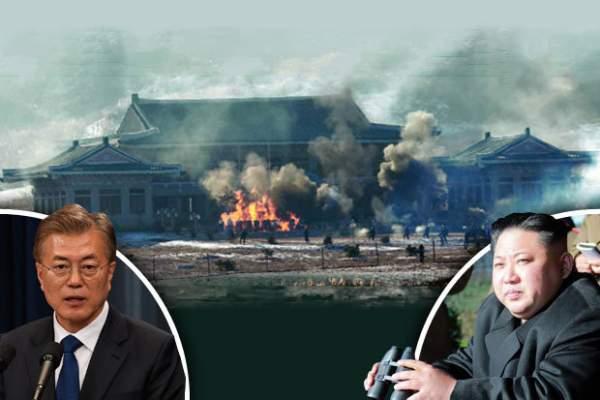 Triều Tiên phá hủy hoàn toàn mô hình dinh Tổng thống HQ 1
