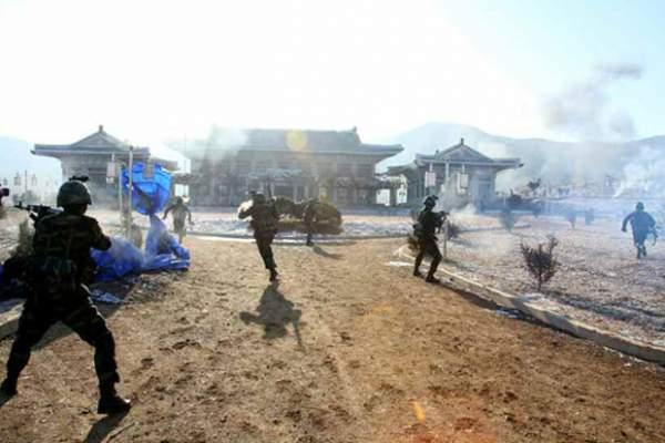 Triều Tiên phá hủy hoàn toàn mô hình dinh Tổng thống HQ 3