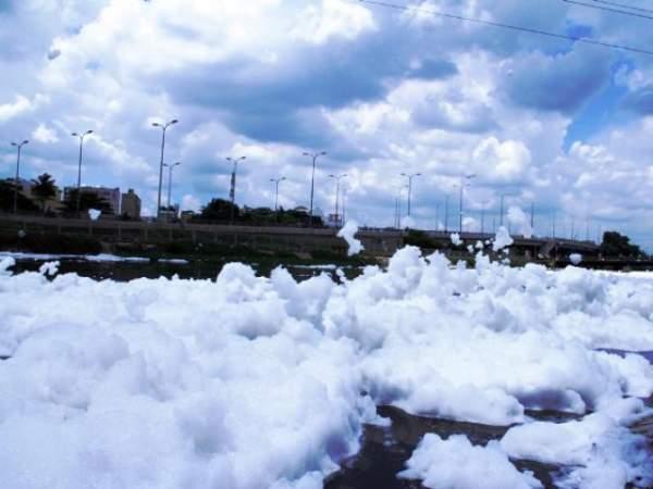 """""""Tuyết"""" phủ trắng kênh đen khiến người SG ngỡ ngàng 13"""