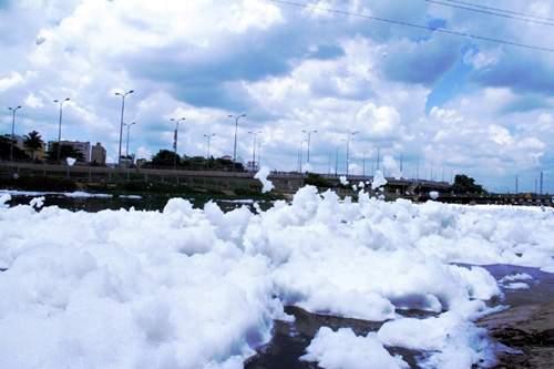 """""""Tuyết"""" phủ trắng kênh đen khiến người SG ngỡ ngàng 11"""