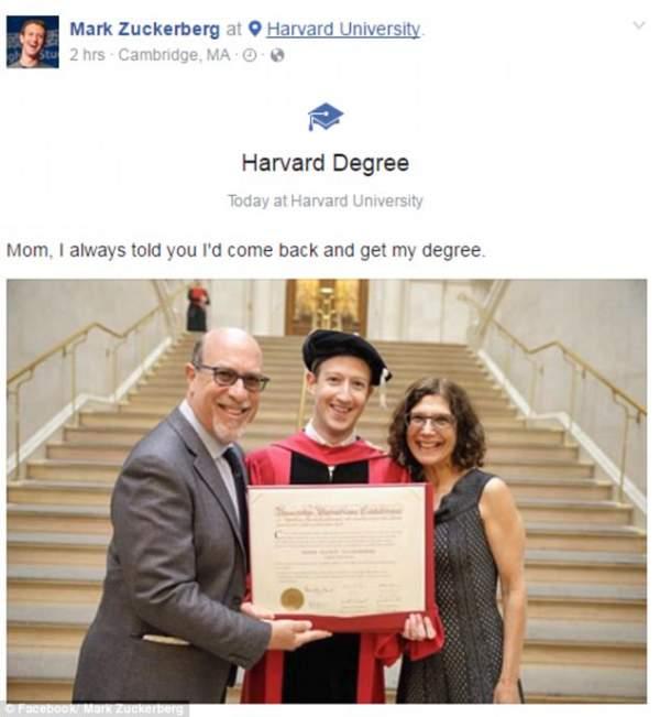 Ông chủ Facebook cuối cùng cũng tốt nghiệp đại học 3