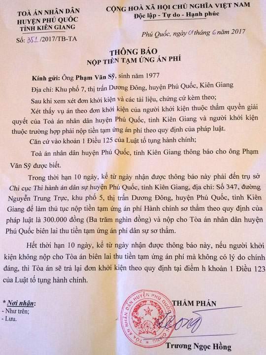 Trưởng Công an huyện Phú Quốc bị dân khởi kiện 2