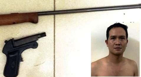 Kinh hoàng, nhóm con nghiện dùng súng hoa cải bắn nhau 1