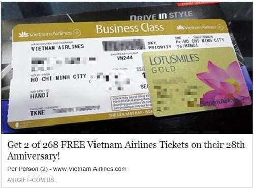 Rộ mánh lừa đảo tặng vé máy bay 1