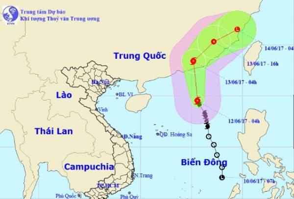 Thông tin mới nhất về cơn bão số 1 trên Biển Đông 1