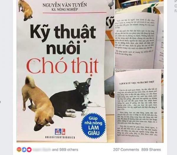 """Cuốn """"Kỹ thuật nuôi chó thịt"""" gây tranh cãi có nội dung ra sao? 3"""