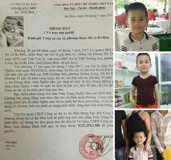 SỐC: Tìm thấy thi thể cháu bé mất tích bí ẩn ở Quảng Bình 1