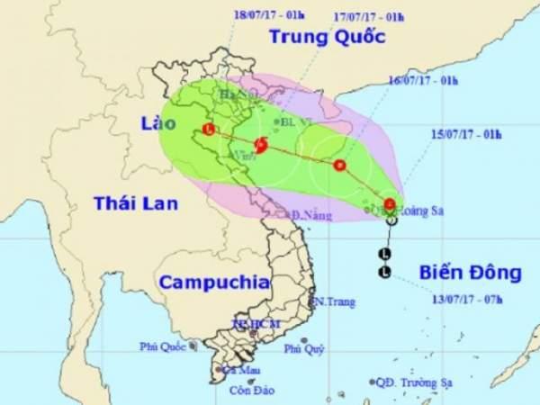 Bão số 2 giật cấp 10, hướng vào bờ biển các tỉnh Nam Định – Nghệ An 2