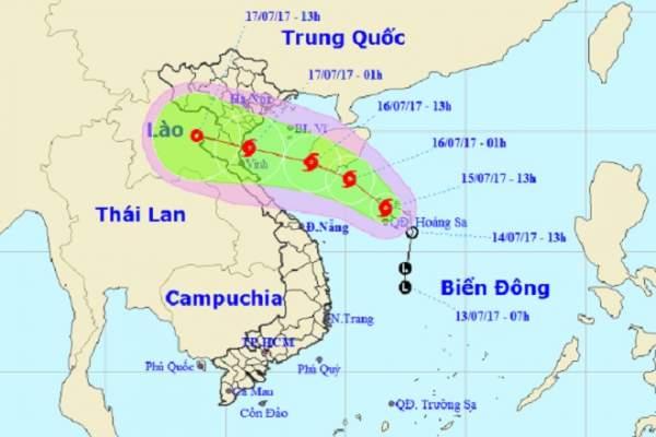 Bão số 2 giật cấp 10, hướng vào bờ biển các tỉnh Nam Định – Nghệ An 1