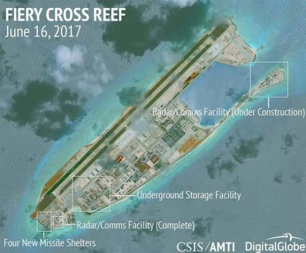 Trung Quốc xây tượng đài trái phép trên Biển Đông 1