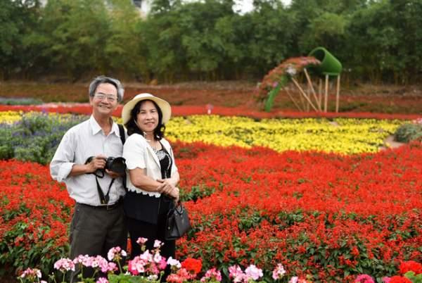 Ngắm nhìn khu vườn 70.000 m2 rực rỡ sắc hoa ở Hà Nội 7