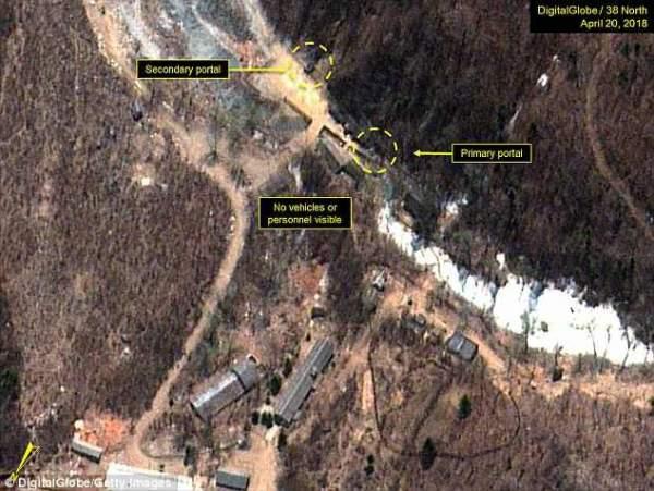 Triều Tiên bắt đầu rút cáp ngầm tại bãi thử hạt nhân 1