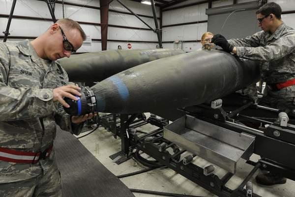 Lầu Năm Góc nói quân đội Mỹ sắp cạn bom 1