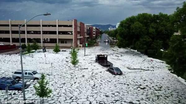 """Đường phố Mỹ thành """"sông"""" sau mưa lớn 5"""