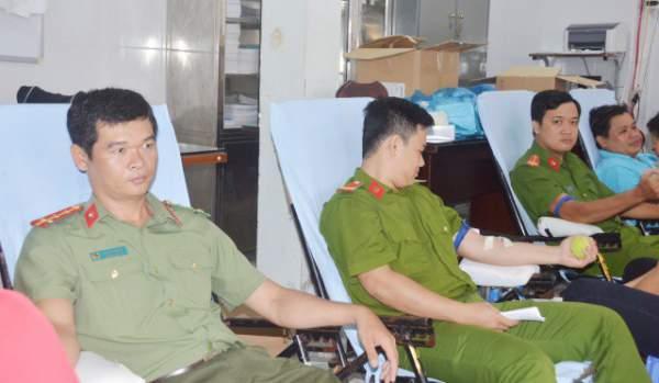 Đại úy công an 22 lần hiến máu tình nguyện 1