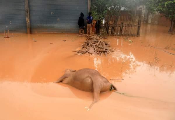Nước rút bùn ngập, người Lào chật vật trở về nhà sau sự cố vỡ đập 15