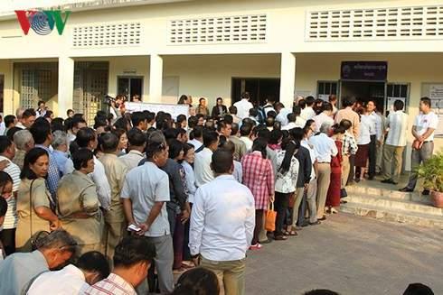 8,3 triệu cử tri Campuchia tham gia bỏ phiếu bầu cử Quốc hội Khóa VI 1