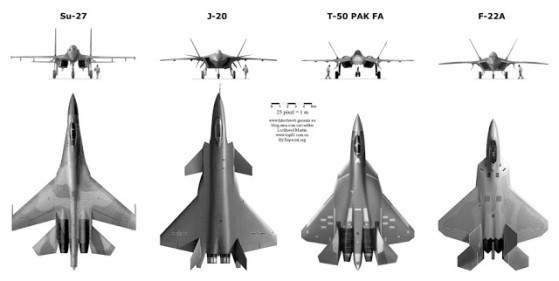 """Đọ sức mạnh """"Rồng dũng mãnh"""" J-20 và """"Chim ăn thịt"""" F-22 4"""