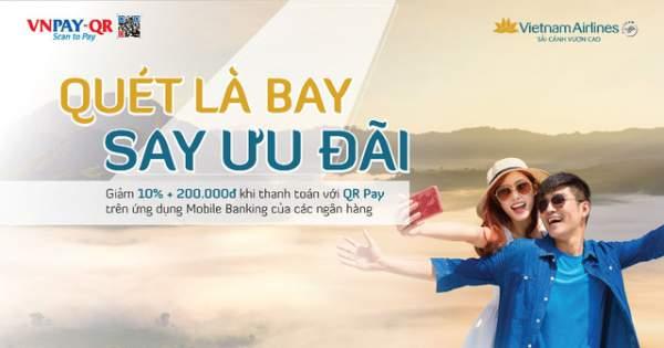 Ưu đãi lớn cho khách hàng thanh toán vé Vietnam Airlines bằng QR Pay 1