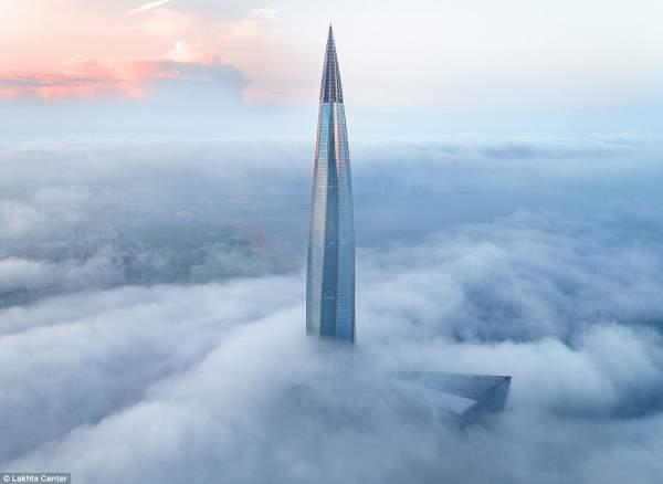 Cận cảnh tòa tháp chọc trời cao nhất châu Âu tại Nga 2