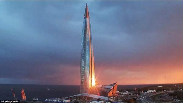 Cận cảnh tòa tháp chọc trời cao nhất châu Âu tại Nga 8